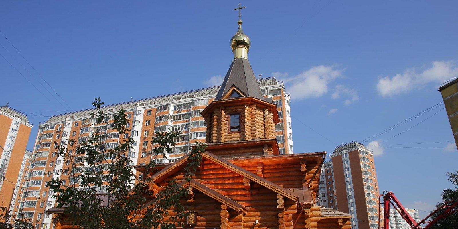 Храм на Клинской достроят в мае 2021 года. Фото:  mos.ru